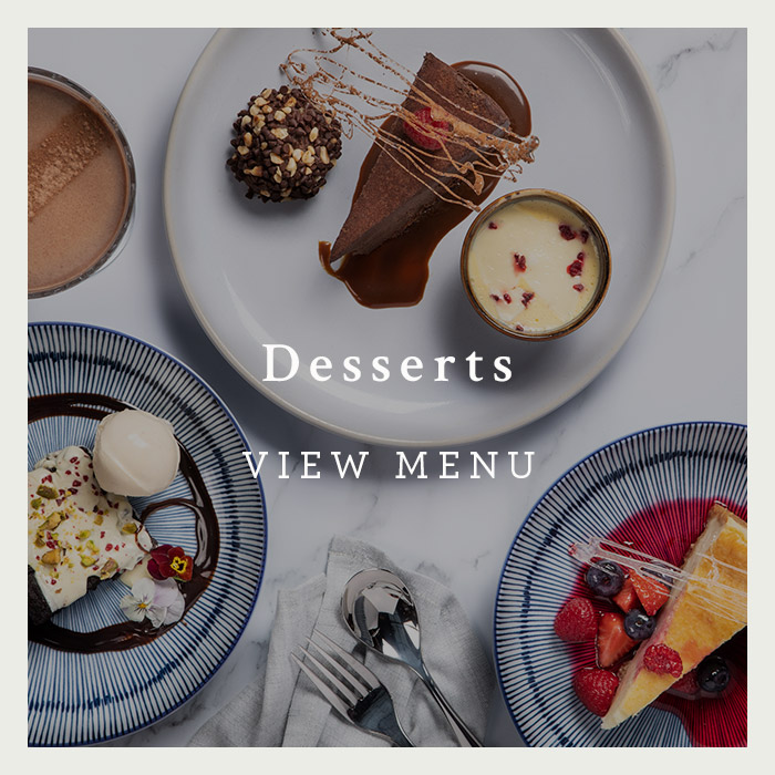 Desserts Menu at the George of Harpenden